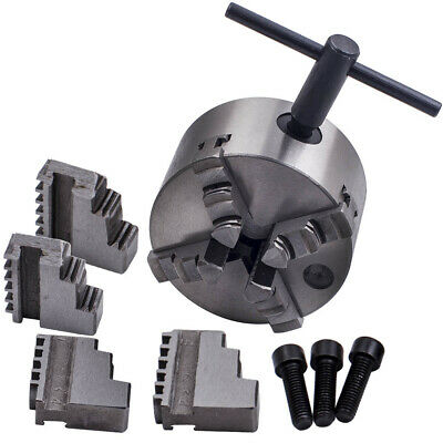 Self-Centering Lathe Chuck 4 Jaw 4 inch Milling K12-100 Hardened Steel 4200 -