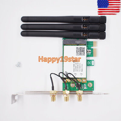 450Mbps PCI -E WiFi wireless Card Adapter Antennas for Desktop Laptop PC - Pcie Laptop Wireless Card