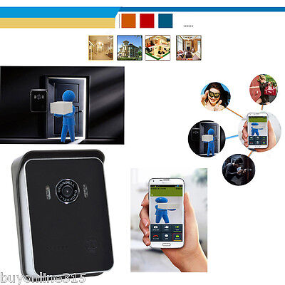 drahtlos wifi t rsprechanlage t rklingel sprechanlage haus sicherheit f r iphone. Black Bedroom Furniture Sets. Home Design Ideas