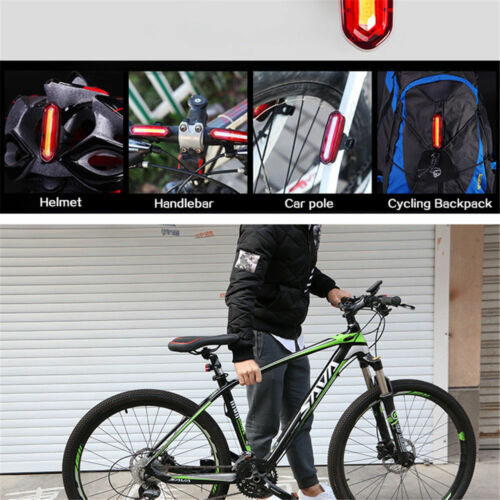 USB Rechargeable Ultra Bright Bike Cycling Front Lamp 3 LED Red Rear Light Set