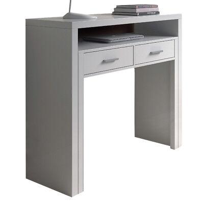 Scrivania pc computer scrittoio tavolo a scomparsa 2 cassetti design moderno