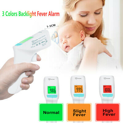Htd8816c No-touch Infrared Digital Led Forehead Thermometer 3 Colors Backlight