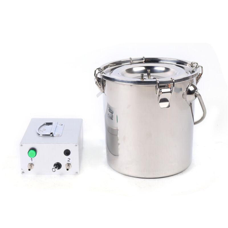 Electric Sheep Goat Milking Machine Portable 5L Stainless PlugIn Milking Pump US