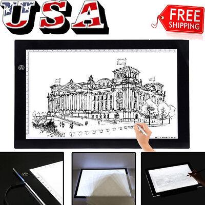 USB LED Tracing light Box Artist Tattoo A3/A4 Drawing Pad Table Stencil Display
