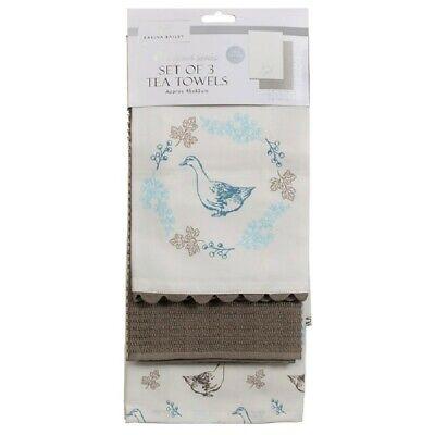 Kitchen Tea Towels set of 3 by Karina Bailey designer cooking Nature
