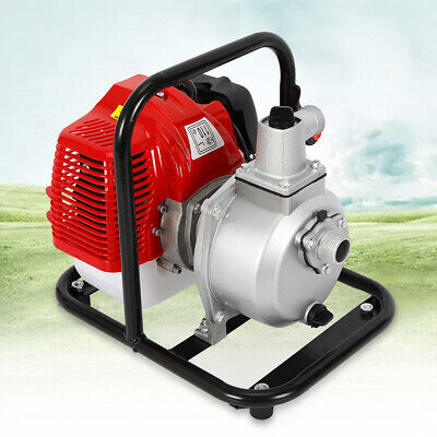 1.7hp 2-stroke Portable Petrol High Flow Water Transfer Pump Irrigation 1 Inch