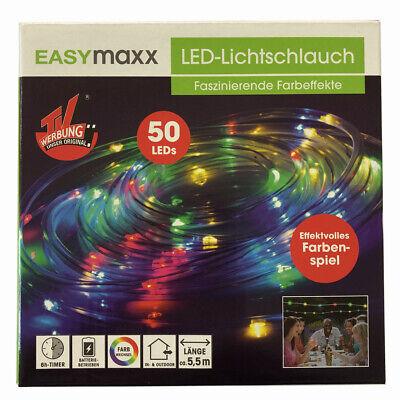 EASYmaxx LED Lichtschlauch 5,5m bunt blinkend Außen Lichterschlauch Lichterkette ()