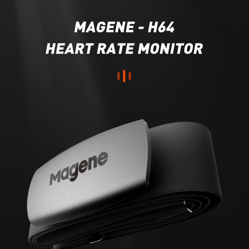 Magene H64 Ant+Bluetooth Dual Protocol Heart Rate Monitoring Chest Strap