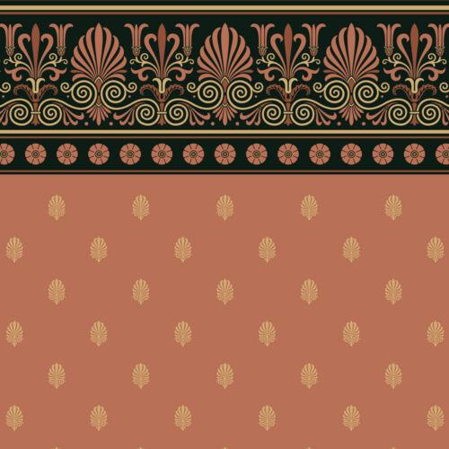 Bradbury and Bradbury Wallpaper - Neo-Grec Frieze and Anthemion Wall