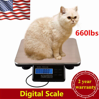 Digital Floor Bench Platform Scale Shipping Postal Pet Digital Scale660lbsx0.1lb