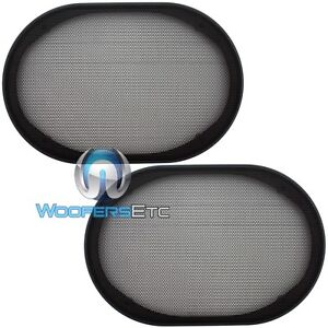 2-UNIVERSAL-6-x9-SPEAKER-COAXIAL-COMPONENT-PROTECTIVE-GRILLS-COVERS-NEW-PAIR