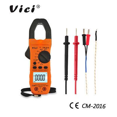 Vici Digital Clamp Meter Acdc Current Voltage Multimeter Temp Volt Amp Tester