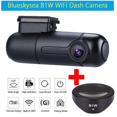 Blueskysea Capacitor HD 1080P B1W Wi-Fi Mini Car DVR Loop Recording + Free CPL
