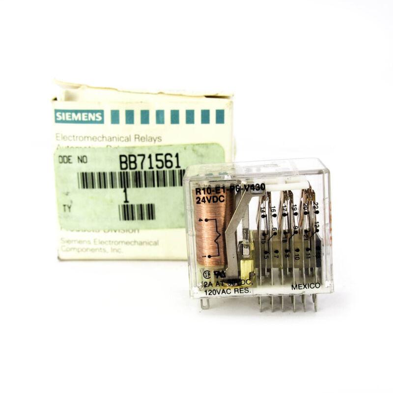 Potter & Brumfield R10-E1P6-V430 AMF Plug-in GP Relay 24VDC 6PDT