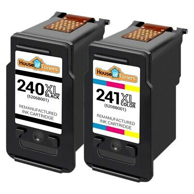 2 pk PG 240XL CL 241XL Ink Cartridge for Canon PIXMA MG and MX Series