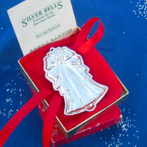 SALE • RARE • NEW • Reed & Barton 1992 SILVER BELLS Sterling Christmas Ornament