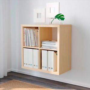 Ikea kallax estanteria abedul salon expadit libreria estate libros 77x77cm ebay - Ikea estanterias libros ...