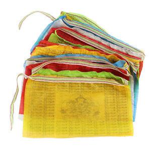 5 Metres long String of Silk Printed Tibetan Buddhist Prayer Flags religious