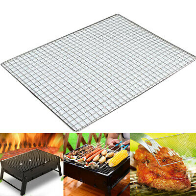 1X BBQ Grill Grate Grid Wire Mesh Rack Cooking Net Durable Baking Roasting Tools