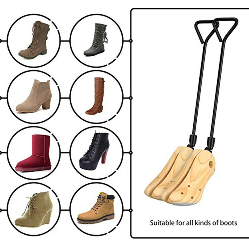 Boot Stretcher Men Wood Shaper Shoes Stretchers Adjustable Bunions Corns Pair