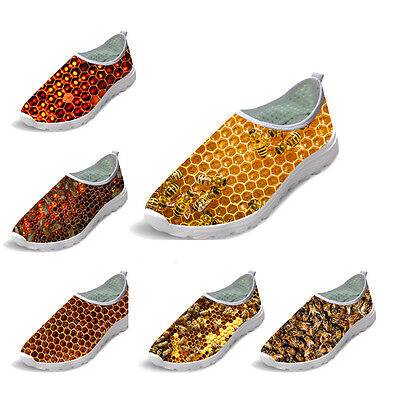Cool Bee Hive Men Breathable Running Shoes Male Athletic Boys Air Mesh Shoes