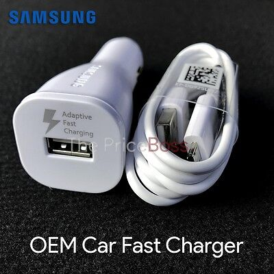 OEM Original Samsung Galaxy S6 S7/ S7 Edge FAST Charging Rapid Car Charger New
