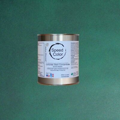 Fast Drying Concrete Paint Speed Color 24oz Concentrate Yields 1 Gal Emerald