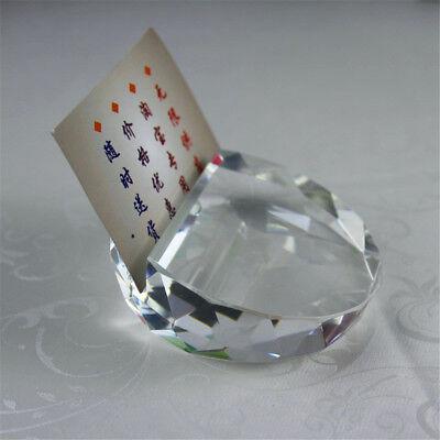 Crystal Glass Card Holder Holder Paperboard Desk Decoration Business Crafts