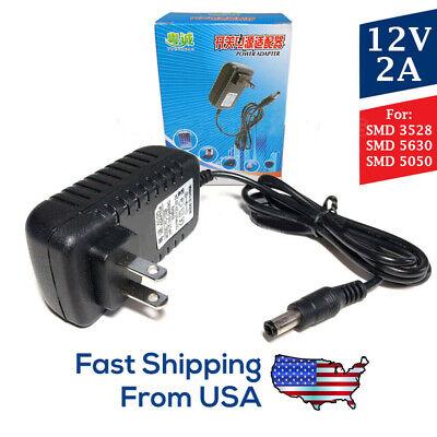 - 12V 2A LED Light Strip Power Supply 🔌🔆, 24W AC Adapter, SMD 3528, 5630, 5050