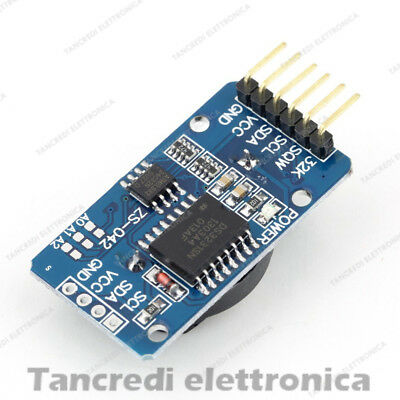 Shield DS 3231 modulo RTC real time clock + memoria I2C Arduino PIC module