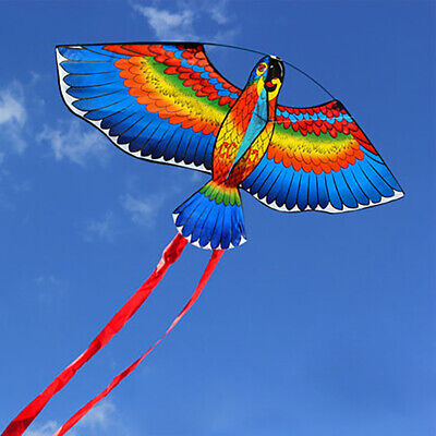 BULE NEW Kites For Kids Children Lovely Cartoon Parrot Kites