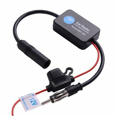 Universal Car Antenna Radio FM AM Signal Amplifier Booster 12V US SELLER