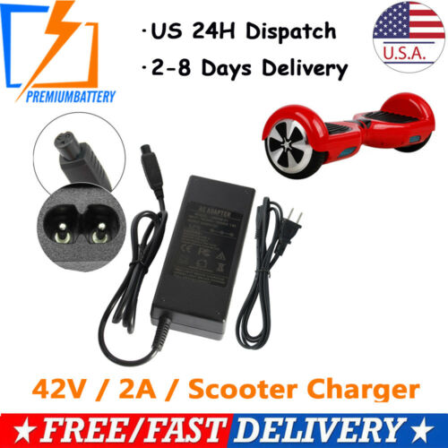 42V 2A Power Adapter Charger for PR200 Swag*ayX1 Swagtron T1