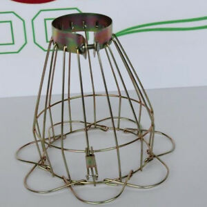 iron wire bulb cage clamp on lamp guard vintage industrial. Black Bedroom Furniture Sets. Home Design Ideas