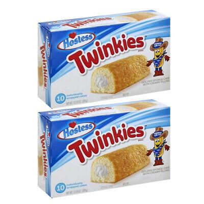 2x 10pc 385g Hostess Twinkies Golden Cream-Filled Sponge Cakes/Sweet Snack Pack