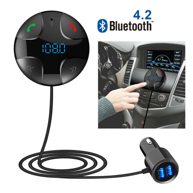 For iPhone 6s 7 8 Plus X XR XS Max Bluetooth Car Kit FM Transmitter USB Charger