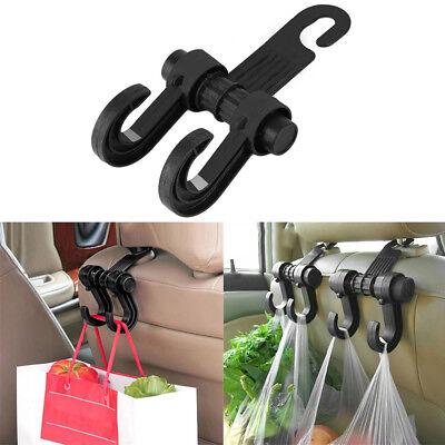 Car Seat Back Headrest Dual Hook Holder Plastic Bag Purse Cloth Hanger Accessory