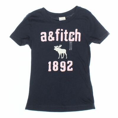 Abercrombie Kids Girls T-shirt size 8,  blue/navy, white, pink,  cotton