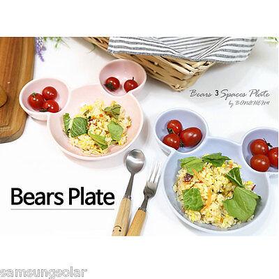 Bears 3 Spaces Plate / Dish,platter, ceramics,china,pottery ceramic pottery