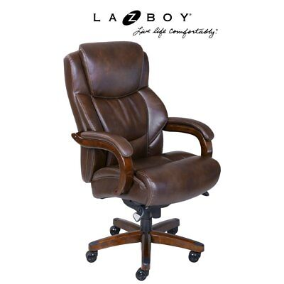 La Z Boy Delano Big And Tall Executive Office Chair    Chestnut
