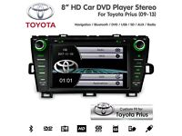 "8"" HD Touchscreen Bluetooth Navigation USB SD Car DVD Stereo For Toyota Prius 2009-13"