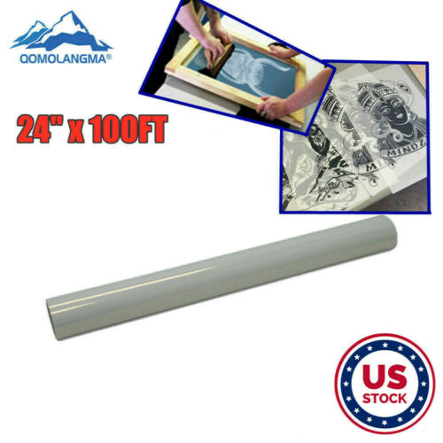 """USA 24"""" x 100FT Waterproof Inkjet Transparency Film Roll for Screen Printing"""