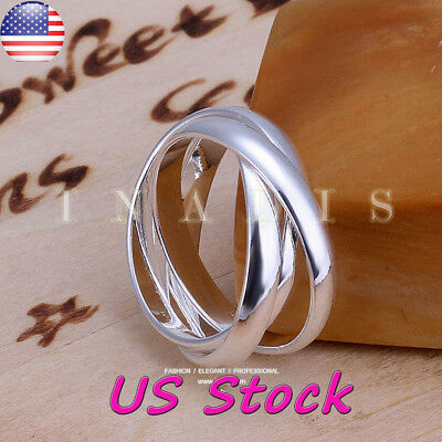 Band Thumb Ring Ring (925 Sterling Silver Fashion Ring Simple Thumb Finger Band Ring Wedding Jewelry )