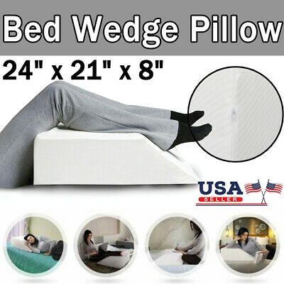 Best Wedge Elevate Leg Pillow Orthopedic Acid Reflux Relief Pain Support Cushion