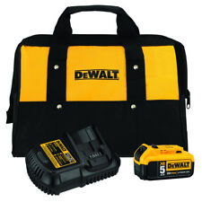 DEWALT 20V MAX 5.0 Ah Li-Ion Battery Kit with Bag DCB205CK New