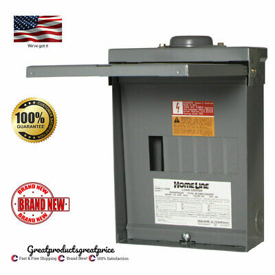 Square D 100-amp 12-circuit 6-space Outdoor Main Lug Load Center Panel Box