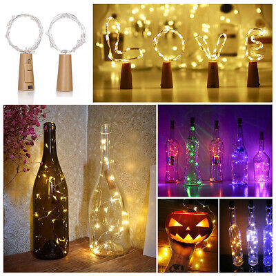LED Wine Bottle Cork Lights Battery Powered Mini Copper Wire Starry String Fairy](Mini Wine Bottle)