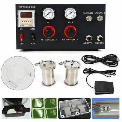 Semi-auto Ab Epoxy Resin Mixer Glue Dispenser Adhesive Injecting Dispensing Mach