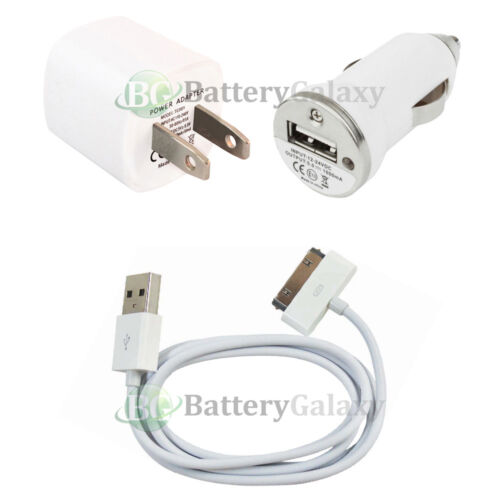 NEW Wall Charger+USB Cable+Car for Apple iPod Classic 1 2 3 4 5 6 7 GEN 100+SOLD