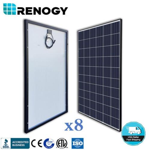 8pcs Renogy 270w 24v Solar Panel Off Grid On Grid Power 2160w 2000w Home System
